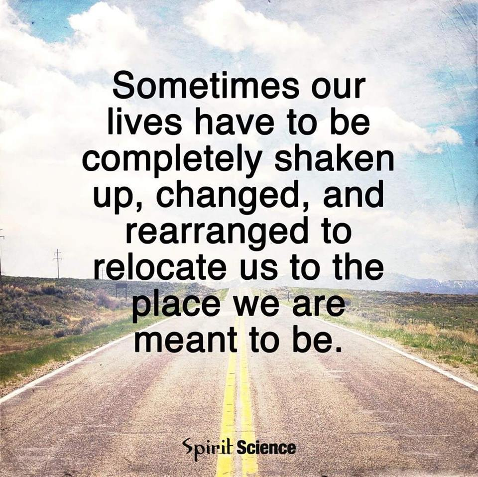 change Relocates Us to Where We Should Be