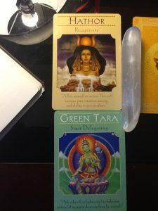 Green Tara, Hathor